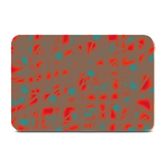 Red and brown Plate Mats