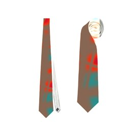 Red and brown Neckties (One Side)