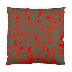 Red and brown Standard Cushion Case (One Side)