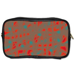 Red and brown Toiletries Bags 2-Side