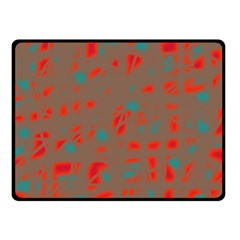 Red and brown Fleece Blanket (Small)