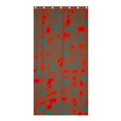 Red and brown Shower Curtain 36  x 72  (Stall)