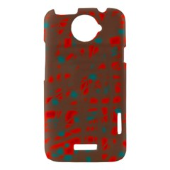 Red and brown HTC One X Hardshell Case