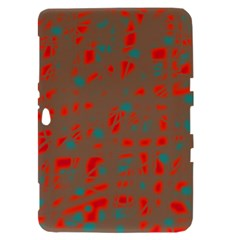 Red and brown Samsung Galaxy Tab 8.9  P7300 Hardshell Case