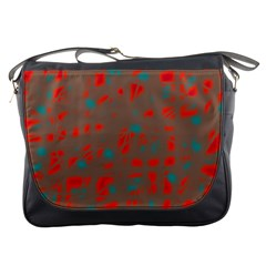 Red and brown Messenger Bags