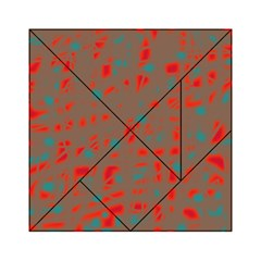 Red and brown Acrylic Tangram Puzzle (6  x 6 )