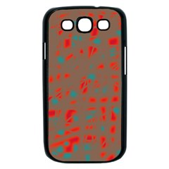 Red and brown Samsung Galaxy S III Case (Black)