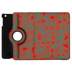 Red and brown Apple iPad Mini Flip 360 Case