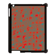 Red and brown Apple iPad 3/4 Case (Black)