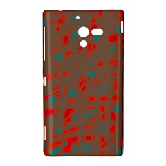 Red and brown Sony Xperia ZL (L35H)