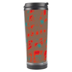 Red and brown Travel Tumbler