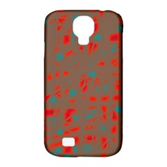 Red and brown Samsung Galaxy S4 Classic Hardshell Case (PC+Silicone)