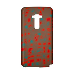 Red and brown LG G Flex
