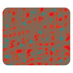 Red and brown Double Sided Flano Blanket (Small)