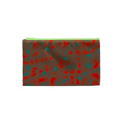 Red and brown Cosmetic Bag (XS)