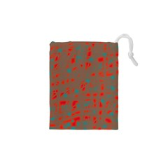 Red and brown Drawstring Pouches (XS)