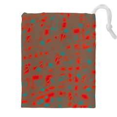 Red and brown Drawstring Pouches (XXL)