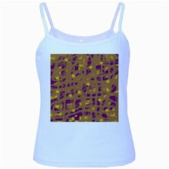 Brown and purple Baby Blue Spaghetti Tank