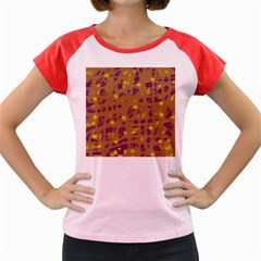 Brown and purple Women s Cap Sleeve T-Shirt