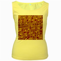 Brown and purple Women s Yellow Tank Top