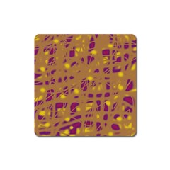 Brown and purple Square Magnet