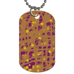 Brown and purple Dog Tag (Two Sides)