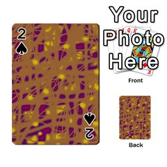 Brown And Purple Playing Cards 54 Designs