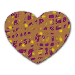 Brown and purple Heart Mousepads