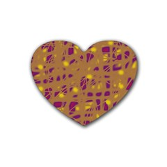 Brown and purple Heart Coaster (4 pack)