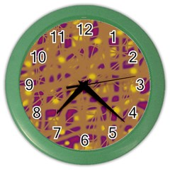 Brown and purple Color Wall Clocks