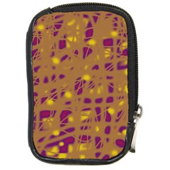Brown and purple Compact Camera Cases