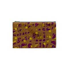 Brown and purple Cosmetic Bag (Small)