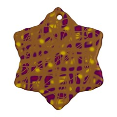 Brown and purple Ornament (Snowflake)