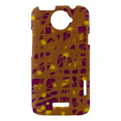 Brown and purple HTC One X Hardshell Case