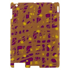 Brown and purple Apple iPad 2 Hardshell Case