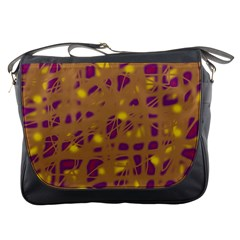 Brown and purple Messenger Bags