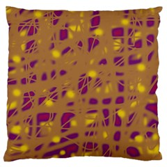 Brown and purple Large Cushion Case (Two Sides)