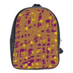 Brown and purple School Bags (XL)