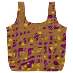 Brown and purple Full Print Recycle Bags (L)