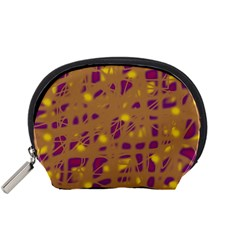 Brown and purple Accessory Pouches (Small)