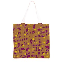 Brown and purple Grocery Light Tote Bag