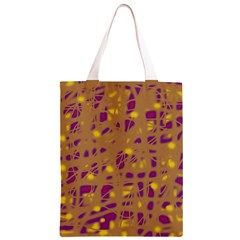 Brown and purple Classic Light Tote Bag