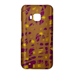 Brown and purple HTC One M9 Hardshell Case