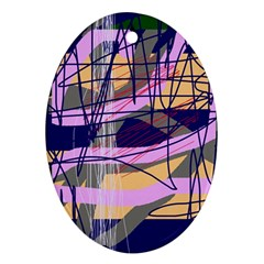Abstract high art by Moma Ornament (Oval)