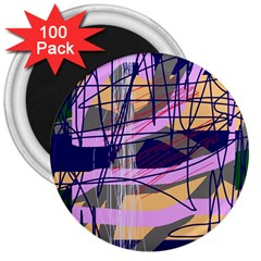 Abstract high art by Moma 3  Magnets (100 pack)