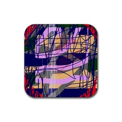 Abstract high art by Moma Rubber Square Coaster (4 pack)