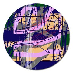Abstract high art by Moma Magnet 5  (Round)