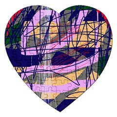 Abstract high art by Moma Jigsaw Puzzle (Heart)