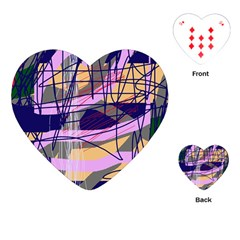 Abstract high art by Moma Playing Cards (Heart)