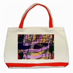 Abstract high art by Moma Classic Tote Bag (Red)